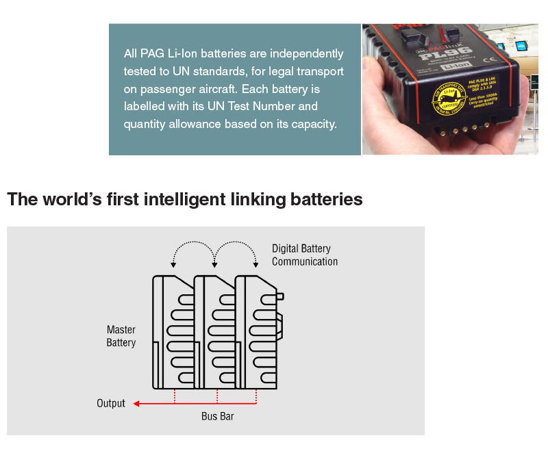 Up To 12a Can Be Drawn From The Linked Batteries Via High Cur Contacts Will Discharge Together In Most Efficient Way